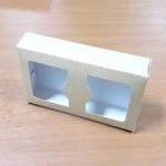 กล่องบราวนี่ 2 - 3 ชิ้น กล่องทรงแบน กล่องคุ๊กกี้ กล่องช็อคโกแลต กล่องขนมฟู้ดเกรด ลายคราฟท์ กว้าง 8.0 x ยาว 15.0 x สูง 3.0 ซม..