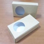 กล่องบราวนี่ 2 - 3 ชิ้น กล่องทรงแบน กล่องคุ๊กกี้ กล่องช็อคโกแลต กล่องขนมฟู้ดเกรด ลายคราฟท์ กว้าง 8.0 x ยาว 15.0 x สูง 3.0 ซม.