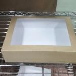 กล่องบราวนี่ กล่องชิฟฟ่อน 30.0x20.0x7.0 ซม.กล่องขนมเปี๊ยะ กล่องพาย กล่องช็อกโกแลต กล่องเค้ปอนด์เตี้ย ลายคราฟท์