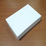 กล่องไม่มีหน้าต่าง (ฝาทึบ) 22.0x15.0x5.0ซม.กล่องเค้ก กล่องคัพเค้ก กล่องบราวนี่ กล่องชิฟฟ่อน กล่องช้อคโกแล็ต กล่องคุ๊กกี้ กล่องขนม สีขาว