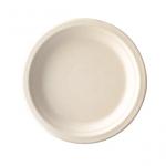 Gracz เกรซ - จานกลมมีขอบไบโอชานอ้อย - P008 - ขนาด 8 นิ้ว แพ็ค 50 ใบ