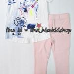 SP016 H&M Off-White T-Shirt + H&M Pink Legging
