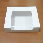 กล่องทรงหน้าต่างวีเชฟ 22.0x15.0x5.0ซม.กล่องทาร์ตไข่ กล่องเค้ก กล่องคัพเค้ก กล่องบราวนี่ กล่องชิฟฟ่อน กล่องช้อคโกแล็ต กล่องคุ๊กกี้ กล่องขนม สีขาว
