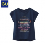 1253 GU T-Shirt - Navy Blue ขนาด 130,140,150