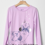 1847 Gap Kids T-Shirt - Purple ขนาด 14-16 ปี