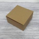 กล่องสแน็ค กล่องอาหารว่าง Snack Box กล่องคอฟฟี่เบรค กล่องคัพเค้ก แบบไม่มีหน้าต่าง สีคราฟท์น้ำตาล ขนาด 13.5 x 13.5 x 7.0 ซม.