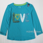1257 Gap Kids Long Sleeve - Turquoise ขนาด 6-7 ปี