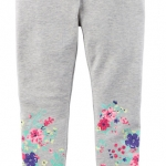 1755 Carter Heather Floral Leggings - Grey ขนาด 7 ปี