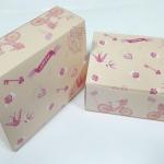 กล่องสแน็ค กล่องอาหารว่าง ลายวินเทจ ขนาด 15.5 x 11.5 x 6.0 ซม.