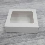 กล่องขนม กล่องบราวนี่ 15.8 x 12.5 x 4 ซม.กล่องทาร์ตไข่ สีขาว จำนวน20 ใบต่อแพ็ค