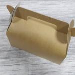 กล่องหูหิ้ว กล่องเค้กโรล กว้าง 20.5 x ยาว 10.0 x สูง 9.0 ซม.กล่องซาลาเปา กล่องคัพเค้ก กล่องเค้ก กล่องคุ๊กกี้ กล่องขนม สีคราฟท์นำ้ตาลอ่อน