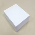 กล่องไม่มีหน้าต่าง (ฝาทึบ) 20.0x16.0x8.2ซม.กล่องเค้ก กล่องคัพเค้ก กล่องบราวนี่ กล่องชิฟฟ่อน กล่องช้อคโกแล็ต กล่องคุ๊กกี้ กล่องขนม สีขาว