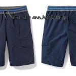 1840 Rib-Knit Waist Canvas Cargo Shorts for Boys - New Navy ขนาด 10-12,18 ปี