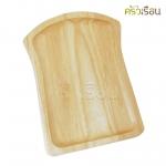 ไม้ - ถาดไม้รูปขนมปัง 6x9 นิ้ว