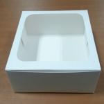 กล่องเค้ก กล่องเค้ก 2 ปอนด์ ทรงสูงพิเศษ กล่องเค้กฟองดอง กล่องขนม กล่องเบเกอรี่ กล่องคัพเค้ก สีขาว 24.5x24.5x15ซม.10ใบ/แพ็ค