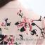 Preorder เสื้อเชิ้ตทำงาน สีชมพูคอปก กระดุมหน้า พิมพ์ลายดอกไม้เก๋ๆ เนื้อผ้าใส่สบาย thumbnail 13