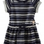 1269 OshKosh Striped Dress - Navy Blue ขนาด 5, 6 ปี