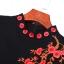 พร้อมส่ง ชุดทำงาน สีดำ คอปีน ปักดอกบ๊วยพาดช่วงอกและสีแดงสดใส พร้อมส่งไซส์ L ** thumbnail 11
