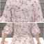 Preorder เสื้อทำงาน สีชมพู ผูกเอว ผ้าพิมพ์ลายนก แขนแต่งระบายสวย thumbnail 10