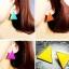 Preorder ตุ้มหู สามเหลี่ยม Colorfull มีหลายสีให้เลือก Orange , Yellow , Purple ,White thumbnail 1