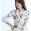 Pre-order เสื้อทำงาน คอจีน สีขาว ผ้าพิมพ์ลายดอกสวย เนื้อผ้าระบายอากาศได้ดี thumbnail 8
