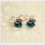 พร้อมส่ง ตุ้มหู จี้คริสตัลสี่เหลี่ยมผูกโบว์เก๋ๆ มีสี Blue , Green thumbnail 9
