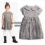 1090 H&M Dot Pleated dress - Grey ขนาด 4-6,6-8 ปี thumbnail 1