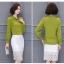 Preorder เสื้อทำงาน สีเขียว ผูกโบว์หน้า เรียบหรู ช่วงคอและแขนแต่งระบายน่ารัก เนื้อผ้าระบายอากาศได้ดี thumbnail 6