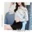Pre-order เสื้อทำงาน สีขาว คอปก พิมพ์ลายดาวสวยสไตล์เกาหลี thumbnail 10