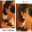 Preorder ตุ้มหู สี่เหลี่ยมประดับเพชรเรียงเป็นแถวเล็กๆ ล้อมด้วยมุกเล็กน่ารัก thumbnail 3