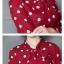 Preorder เสื้อทำงาน สีแดงลายจุด แต่งโบว์ใหญ่ช่วงคอเก๋ๆ เนื้อผ้าระบายอากาศได้ดี thumbnail 4
