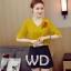 Preorder เสื้อทำงาน สีเหลืองขมิ้น คอวี แขนระบาย อกเสื้อแต่งดอกกุหลาบสวยงาม thumbnail 1