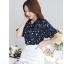 Preorder เสื้อทำงาน สีกรม พิมพ์ลายดอกไม้สวยเก๋ เนื้อผ้าระบายอากาศได้ดี thumbnail 3
