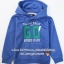 1164 H&M Boys Hooded Top with Printed Design - Blue ขนาด 4-6 ปี thumbnail 1
