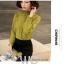 Preorder เสื้อทำงาน สีเขียว คอตั้ง แขนแต่งระบายสวย จับจีบด้านหน้าสวยงาม สำเนา สำเนา สำเนา thumbnail 4