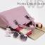Pre-order กระเป๋าหนังแท้ สีไวน์แดง งานเนียบ เนื้อนิ่ม thumbnail 6