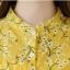 Pre-order เสื้อทำงาน โทนสีเหลือง พิมพ์ลายดอกไม้เล็กๆน่ารัก thumbnail 10