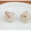 Preorder ตุ้มหู สี่เหลี่ยมประดับเพชรเรียงเป็นแถวเล็กๆ ล้อมด้วยมุกเล็กน่ารัก thumbnail 6
