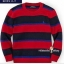 1160 Polo Ralph lauren Stripe Crew-Neck Sweater - Red ขนาด 6 ปี thumbnail 1