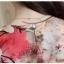 Preorder เสื้อทำงาน สีม่วง คอวี แขนระบาย ตัวเสื้อพิมพ์ลายดอกไม้สวยๆ thumbnail 9