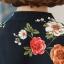 Preorder เสื้อทำงาน สีชมพูกลีบบัว คอจีน แขนแต่งระบาย พิมพ์ลายดอกไม้สวยหวาน เนื้อผ้าระบายอากาศได้ดี thumbnail 8