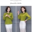Preorder เสื้อทำงาน สีเขียว ผูกโบว์หน้า เรียบหรู ช่วงคอและแขนแต่งระบายน่ารัก เนื้อผ้าระบายอากาศได้ดี thumbnail 5