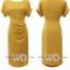 Pre-order ชุดแซกทำงาน สีเหลือง Honey Yellow dress แพทเทิร์นเรียบเก๋ ใส่สบายสุดๆ มีไซส์ใหญ่ S - XXL thumbnail 13