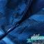 Preorder ชุดเดรส/ชุดออกงาน ผ้าเกาหลี ผ้าโปร่งปักแขนยาวลายดอกไม้ สีนำเงิน (ซิปหลัง) thumbnail 10