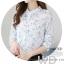Pre-order เสื้อทำงาน โทนสีขาว พิมพ์ลายดอกไม้เล็กๆน่ารัก thumbnail 8