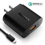 ที่ชาร์จมือถือ Aukey Qualcomm Quick Charge 3.0 (3.0 + 2.0) 18W 1 Port