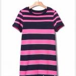 1676 Gap Kids Striped Dress - Pink ขนาด S(6-7),M(8),L(10) ปี