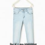 1724 Zara Basic Jeans - Light Blue ขนาด 11-12,13-14 ปี