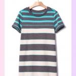 1677 Gap Kids Striped Dress - Garden Green ขนาด S(6-7),M(8) ปี