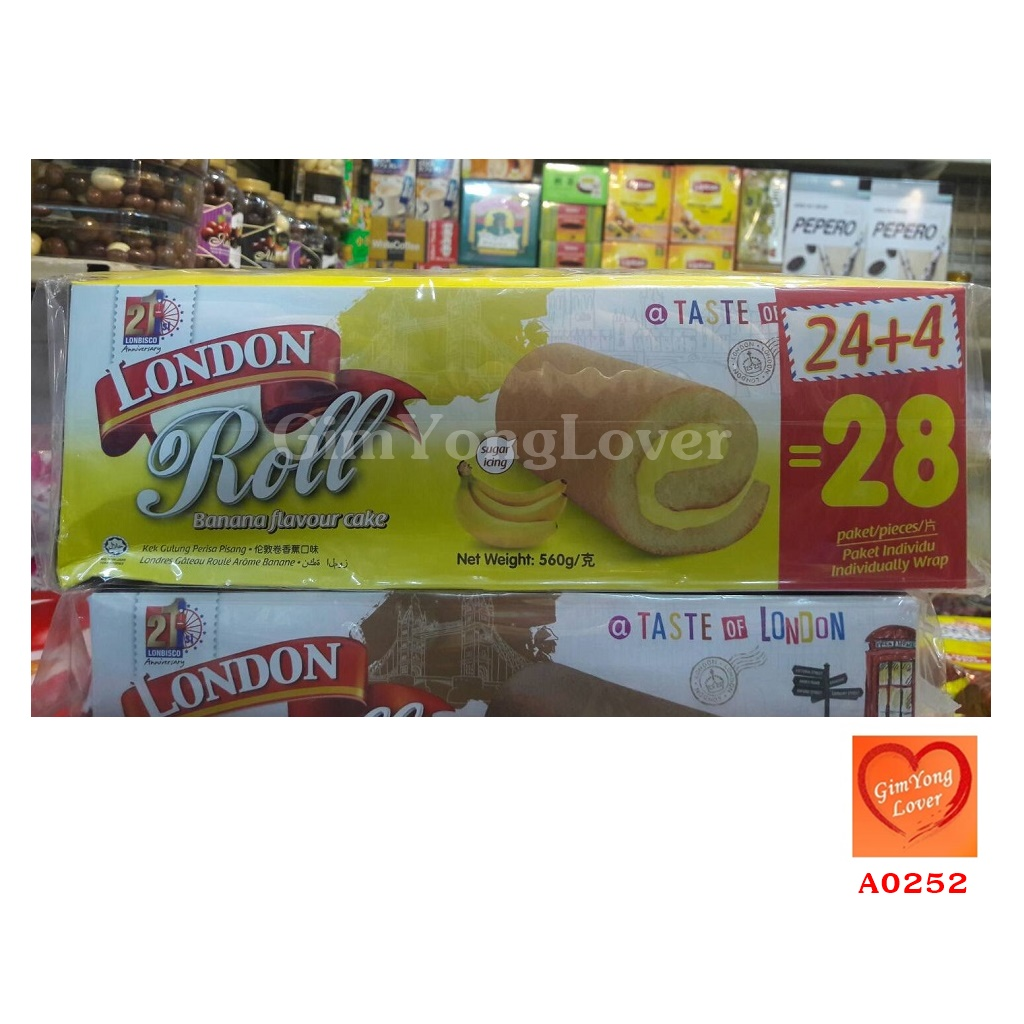 LONDON Roll เค้กโรลไส้ครีมกล้วยหอม (London Roll Banana Flavour Cake)